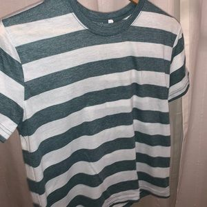 Green & White Striped Tee